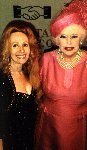 Jacqueline Chapman with Barbara Cartland