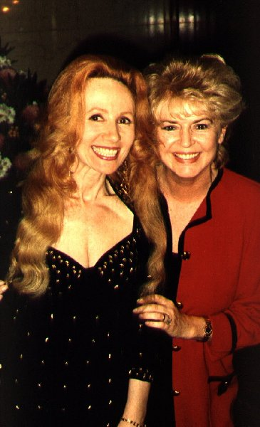 Jacqueline Chapman with Gloria Hunniford